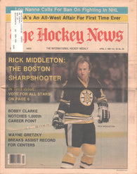 April 3, 1981 The Hockey News Vol 34 No 26 Rick Middleton Bobby Clarke Wayne Gretzky