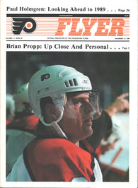 December 15, 1988 Washington Capitals - 1 @ Philadelphia Flyers - 4 Program Mark Howe Scott Stevens Mike Gartner