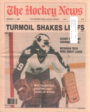January 11, 1980 The Hockey News Vol 33 No 15 Mike Palmateer Phil Myre Gilles Meloche