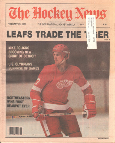 February 29, 1980 The Hockey News Vol 33 No 22 Tiger Williams US Olympic Hockey Mike Foligno