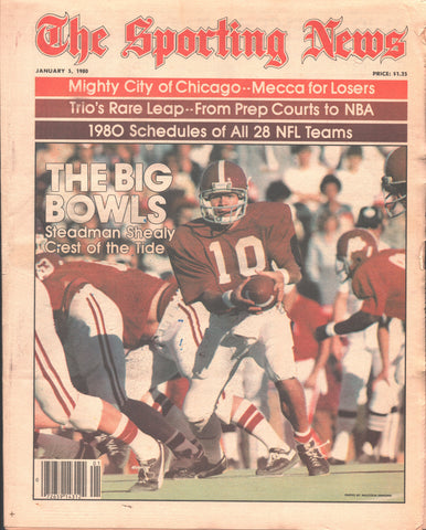 January 5, 1980 The Sporting News Vol 189 No 1 Greg Malone Glen Hanlon Claude Ruel