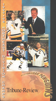 "1997-98 Pittsburgh Penguins Northeast Division Champs ""One to Grow On"" VHS Tape Lemieux Jagr Francis Straka"