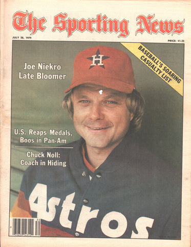July 28, 1979 The Sporting News Vol 188 No 4 Ken Dryden Punch Imlach Joe Niekro