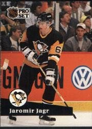 1991-92 Pro Set #183 Jaromir Jagr Pittsburgh Penguins Card