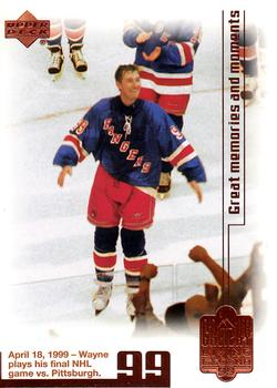 1999 Upper Deck Wayne Gretzky Final Game #97 card 1042 0f 1999