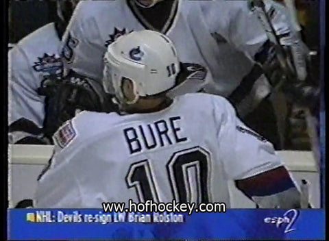 October 3, 1997 Vancouver Canucks - 3 @ Mighty Ducks of Anaheim - 2 Bure Messier