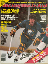January 1978 NHL Hockey Illustrated Magazine Rick Martin Mike Palmateer