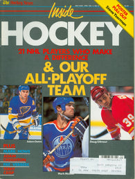 May/June 1990 THN Inside Hockey Magazine Doug Gilmour Mark Messier Martin Brodeur