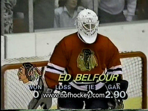 October 22, 1988 Chicago Blackhawks - 4 @ Pittsburgh Penguins - 7 Ed Belfour