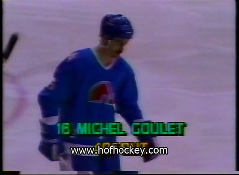 March 8, 1984 Quebec Nordiques - 8 @ Pittsburgh Penguins - 6 Michel Goulet