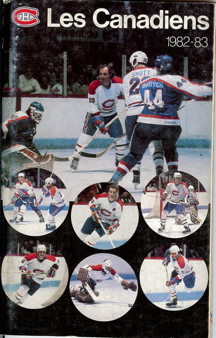 1982-83 Montreal Canadiens Media Guide Yearbook Guy Lafleur