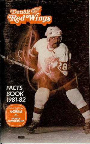 1981-82 Detroit Red Wings Media Guide Fact Book Reed Larson