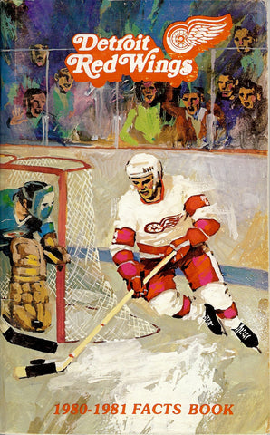 1980-81 Detroit Red Wings Media Guide Fact Book Reed Larson