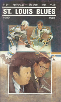 1980-81 St. Louis Blues Media Guide Yearbook Joe Mullen