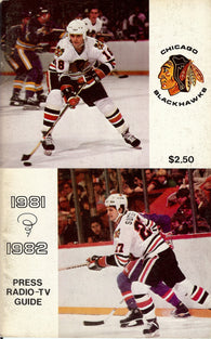 1981-82 Chicago Blackhawks Media Guide Yearbook Tony Esposito