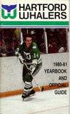1980-81 Hartford Whalers Yearbook and Official Guide Gordie Howe