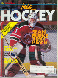 October 1988 THN Inside Hockey NHL Magazine Sean Burke Jari Kurri Robitaille