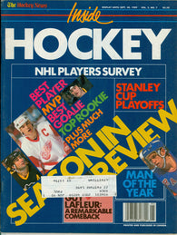 September 1989 THN Inside Hockey NHL Magazine Joe Nieuwendyk
