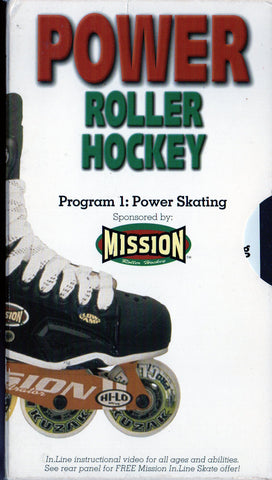 1997 Power Roller Hockey Program 1 - Power Skating VHS Tape Mission Free DVD copy