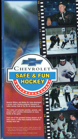 Bobby Orr Chevrolet Safe & Fun Hockey VHS Tape Boston Bruins Chicago Blackhawks