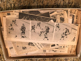 1970's Boston Bruins Scrapbook Box of Notes and Newspaper Clippings and Posters Bobby Orr