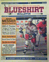 October November Blueshirt Bulletin Newspaper New York Rangers Mark Messier Adam Graves Petr Nedved