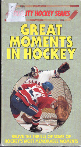 Great Moments in Hockey NHL VHS Tape Wayne Gretzky Mario Lemieux