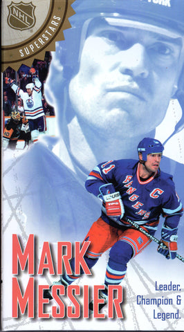 Mark Messier Leader Champion Legend Edmonton Oilers New York Rangers Vancouver Canucks VHS Tape
