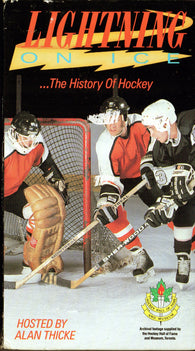 Lightning on Ice History of Hockey VHS Tape Alan Thicke Wayne Gretzky Gordie Howe Marcel Dionne