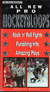 1991 All New Hockey Bloopers VHS Tape Wayne Gretzky Ron Hextall Cam Neely Wendel Clark