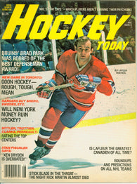 December 1978 Hockey Today NHL Magazine Guy Lafleur Ken Dryden Mike Bossy