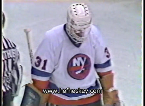 April 4, 1984 Gm#1 New York Rangers -1 @ New York Islanders - 4 Billy Smith Mike Bossy