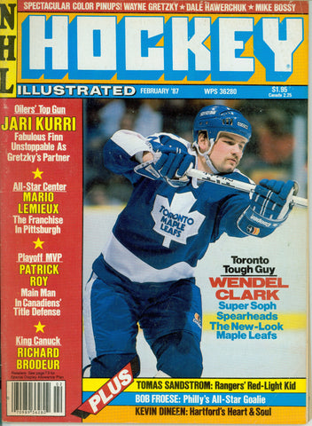 February 1987 NHL Hockey Illustrated Magazine Wendel Clark