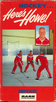 Here's Howe VHS TAPE Defense Video Gordie Mark Marty Eddie Giacomin Detroit Red Wings Volume 1