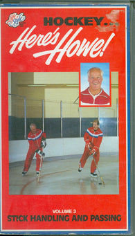 Here's Howe Stick Handling and Passing Gordie Mark Marty Mister Hockey VHS Tape Volume 3