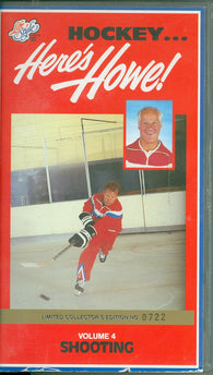 Here's Howe Shooting Gordie Mark Limited Edition SIGNED Ed Giacomin VHS Video Tape Volume 4