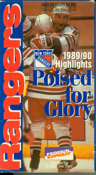 1989-90 New York Rangers Poised For Glory VHS TAPE Mike Richter Bernie Nicholls Mike Gartner
