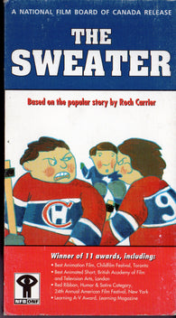 The Sweater VHS Tape Montreal Canadiens Toronto Maple Leafs Animation 1995