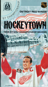 1996-97 Detroit Red Wings Championship VHS TAPE HockeyTown Steve Yzerman Brendan Shanahan
