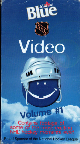 1998 NHL Blue Video Volume #1 VHS Tape Footage of Some of Most Exciting Moments Ever!