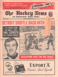 December 25, 1970 The Hockey News Vol 24 No 12 Phil Esposito Rogie Vachon St. Louis Blues