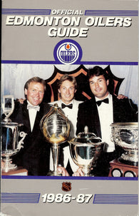 1986-87 Edmonton Oilers Team Media Guide Yearbook Wayne Gretzky Paul Coffey