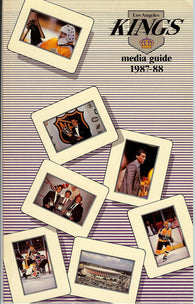 1987-88 Los Angeles Kings Media Guide Team Yearbook Luc Robitaille Bernie Nicholls