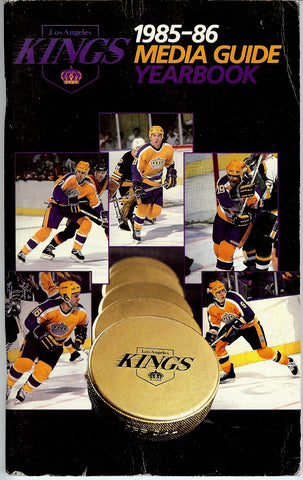 1985-86 Los Angeles Kings Media Guide Team Yearbook Marcel Dionne Bernie Nicholls