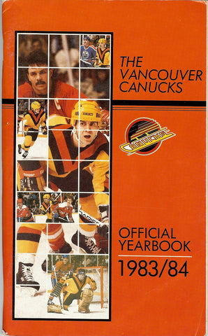 1983-84 Vancouver Canucks Media Guide Team Yearbook Richard Brodeur Tiger Williams