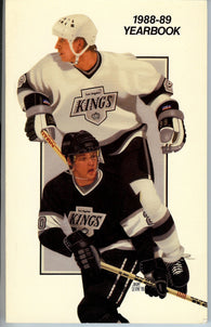 1988-89 Los Angeles Kings Media Guide Team Yearbook Wayne Gretzky Luc Robitaille