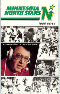 1985-86 Minnesota North Stars Media Guide Team Yearbook Brian Bellows Neal Broten