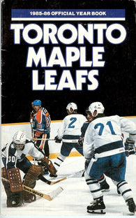 1985-86 Toronto Maple Leafs Media Guide Fact Book Rick Vaive Borje Salming