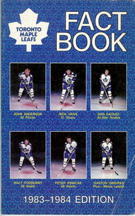 1983-84 Toronto Maple Leafs Media Guide Fact Book Rick Vaive Borje Salming