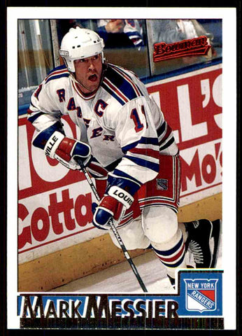 1995-96 Bowman #8 Mark Messier New York Rangers Hockey Card